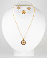 YELLOW GOLD HALF SET, 21KT, YGHALFSET021, Weight: 11.2g