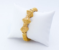 YELLOW GOLD INDIAN STYLE BANGLES, 21K, Size: xLarge, Weight: 46.2g