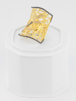 Yellow Gold Ring 21K , YGRING0242, Weight: 10.3g