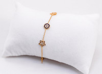 YELLOW GOLD BABY BANGLE, YGBaby0048, 21K, Size:Baby , Weight: g