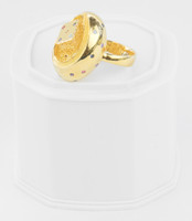 Yellow Gold Ring 21K , YGRING0251, Weight: 8.5g