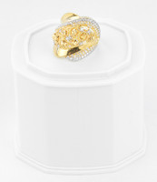 Yellow Gold Ring 21K , YGRING0253, Weight: 5.6g