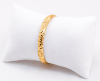 YELLOW GOLD BABY BANGLE, YGBABY0011, 21K, Size: Child Large, Weight: 11.7g