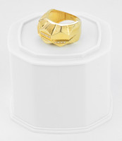 Yellow Gold Ring 21K , YGRING0258, Weight: 9.7g