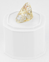 Yellow Gold Ring 18K , YGRING0267, Weight: 5.4g