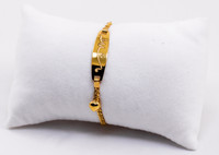 YELLOW GOLD BABY BANGLE, YGBaby0046, 21K, Size: Child Medium , Weight: 4.1g