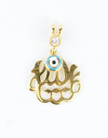 YELLOW GOLD PENDANT, 21K, Weight:1.8g, YGPEND0366