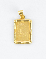 YELLOW GOLD PENDANT, 21K, Weight:5.5g, YGPEND0386