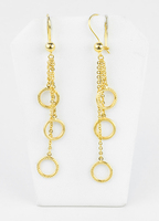 YELLOW GOLD EARRINGS, 21KT, Weight: 4.4g, YGEARRING21K00106