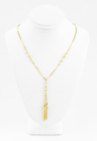YELLOW GOLD NECKLACE, 21K, Weight:7.7g, YGNECKLACE045