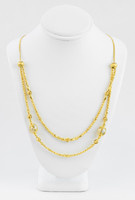 YELLOW GOLD NECKLACE, 21K, Weight:20.6g, YGNECKLACE047