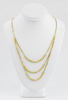 YELLOW GOLD NECKLACE, 21K, Weight:13.1g, YGNECKLACE048