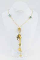 YELLOW GOLD NECKLACE, 21K, Weight:16.2g, YGNECKLACE054