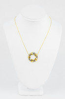 YELLOW GOLD KNECKLACE, 21K, Weight:4.3g, YGNECKLACE059