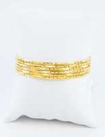 YELLOW GOLD BANGLES,SET OF 6, 21K, Size: Large, Weight: 60.6g, YGBANGL106