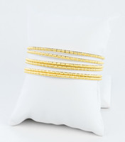 YELLOW GOLD BANGLES,SET OF 6, 21K, Size: Large, Weight: 66.2g, YGBANGL107
