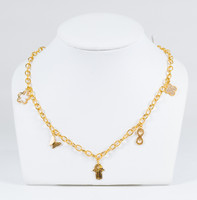 YELLOW GOLD NECKLACE, 21K, Weight:10.3g, YGNECKLACE21K081