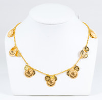 YELLOW GOLD NECKLACE, 21K, Weight:15.3g, YGNECKLACE21K082