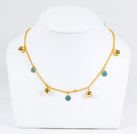 YELLOW GOLD NECKLACE, 21K, Weight:8.4g, YGNECKLACE21K084
