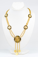 YELLOW GOLD NECKLACE, 21K, Weight:53.6g, YGNECKLACE21K091