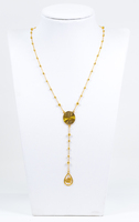 YELLOW GOLD NECKLACE, 21K, Weight:9.5g, YGNECKLACE21K094