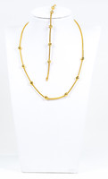 YELLOW GOLD NECKLACE & BRACELET, 21K, Weight:15.8g, YGNECKLACE21K095