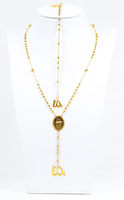 YELLOW GOLD NECKLACE & BRACELET, 21K, Weight:15.5g, YGNECKLACE21K096