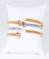 YELLOW GOLD BANGLES,SET OF 3,21K, Weight: 69.2g, YGBANGLE122