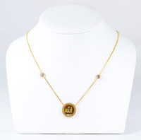 YELLOW GOLD NECKLACE, 21K, Weight:7.9g, YGNECKLACE21K097