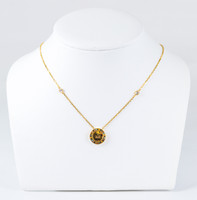 YELLOW GOLD NECKLACE, 21K, Weight:6g, YGNECKLACE21K104