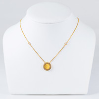 YELLOW GOLD NECKLACE, 21K, Weight:7.7g, YGNECKLACE21K105