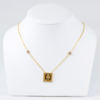 YELLOW GOLD NECKLACE, 21K, Weight:7.8g, YGNECKLACE21K107