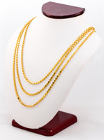 YELLOW GOLD CHAINS, 21K-YGCHAIN026, Size:Large, Weight:0g