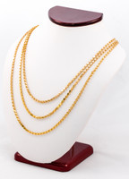 YELLOW GOLD CHAINS, 21K-YGCHAIN027, Size:Large, Weight:0g