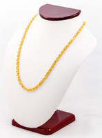 YELLOW GOLD CHAINS, 21K-YGCHAIN034, Size:Large, Weight:0g