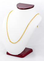 YELLOW GOLD CHAINS, 21K-YGCHAIN049, Size:Large, Weight:0g