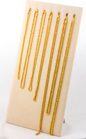 YELLOW GOLD CHAINS, 21K-YGCHAIN050, Size: Vary, Weight: Vary