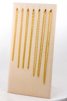 YELLOW GOLD CHAINS, 21K-YGCHAIN052, Size: Vary, Weight: Vary