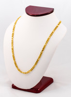 YELLOW GOLD CHAINS, 21K-YGCHAIN016, Size:Large, Weight:0g