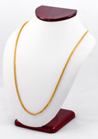 YELLOW GOLD CHAINS, 21K-YGCHAIN022, Size:Large, Weight:0g
