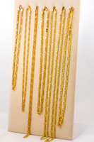 YELLOW GOLD CHAINS, 21K-YGCHAIN056, Size: Vary, Weight: Vary