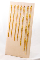YELLOW GOLD CHAINS, 21K-YGCHAIN058, Size: Vary, Weight: Vary