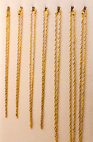 YELLOW GOLD CHAINS, 21K-YGCHAIN059, Size: Vary, Weight: Vary