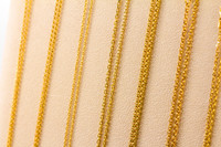 YELLOW GOLD CHAINS, YGCHAIN061, 21K, Size:Large Weight:0g