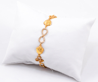 "YELLOW GOLD BRACELETS, 21K, Size:7.5"", Weight:6.3g, YG21BRA024"