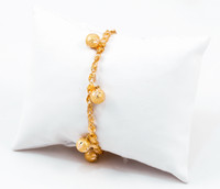 YELLOW GOLD BRACELETS, 21K, Size:7.5, Weight:g