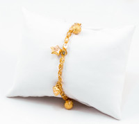 YELLOW GOLD BRACELETS, 21K, Size:7.5, Weight:9.1g