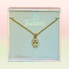 JW00530-GLD-OS-DYO - Sugar Skull Necklace -  enamel glass crystals 14k polished gold plating & CZ accent - Wildflower + Co. Jewelry Box