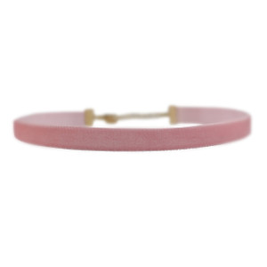 Velvet Choker Necklace, Blush Pink