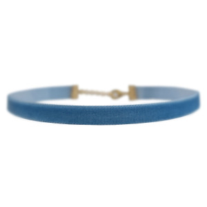 Velvet Choker Necklace, Blue